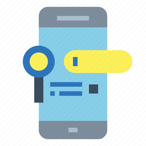 mobile, phone, search, smartphone, telephone icon