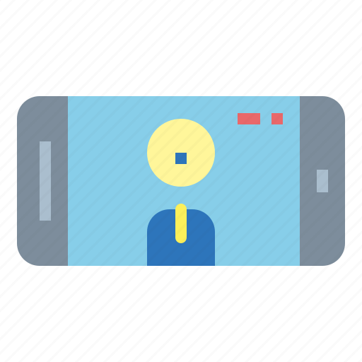 call, communication, screen, smartphone, video, webcam icon