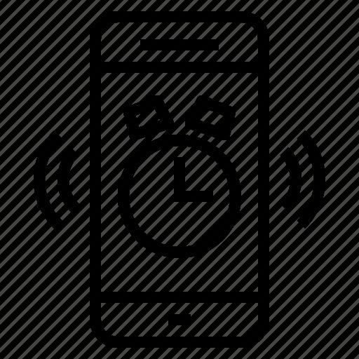 alarm, clock, smartphone, time, timer icon