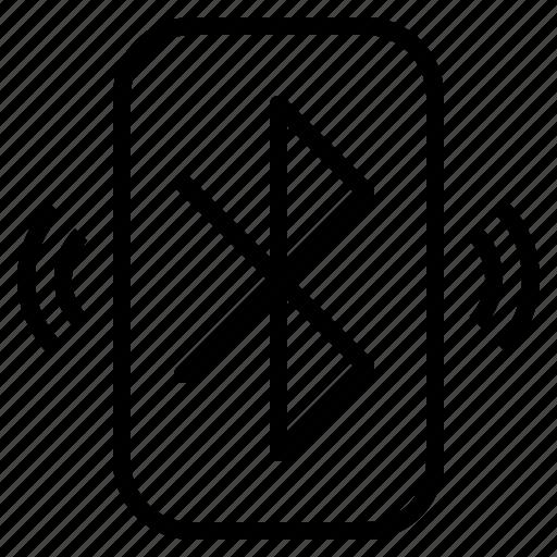 bluetooth, communication, multimedia, system, wireless icon