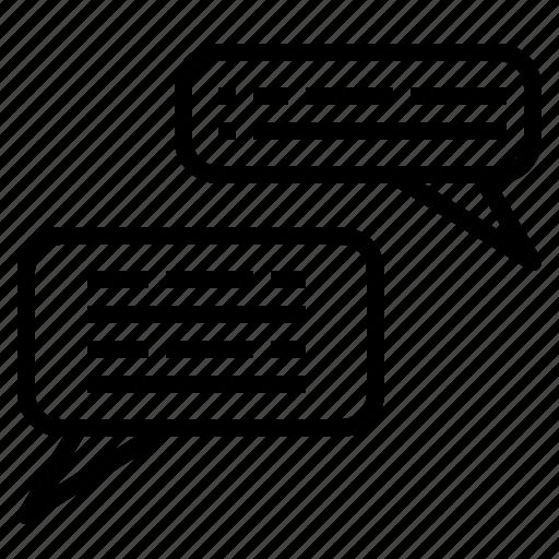 bubble, chat, conversation, message, speaking, speech icon