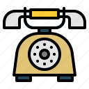 call, communications, electronics, landline, phone, vintage icon