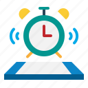 alarm, and, clock, time, timer, tools, utensils icon