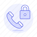 actions, call, lock, phone icon