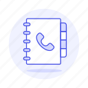 address, book, contact, phone icon