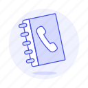 2, address, book, contact, phone icon