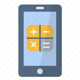 app, application, calculator, device, operations, phone, smartphone icon
