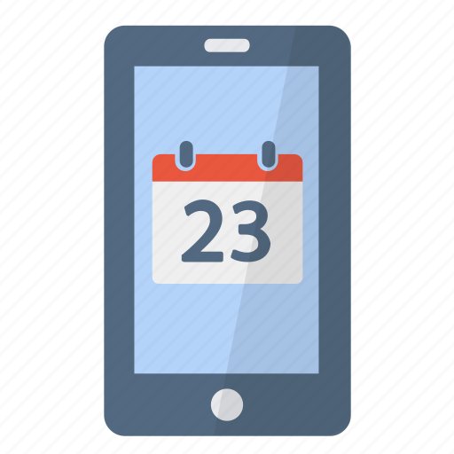 agenda, app, application, appointment, calendar, phone, smartphone icon