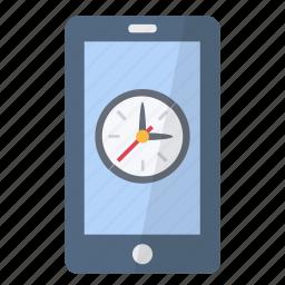 alarm, app, application, clock, phone, smartphone, time icon