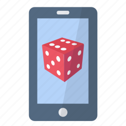app, application, dice, game, leisure, phone, smartphone icon