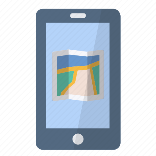app, application, location, map, paper, phone, smartphone icon