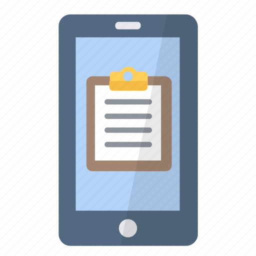 app, application, clipboard, iphone, note, phone, smartphone icon