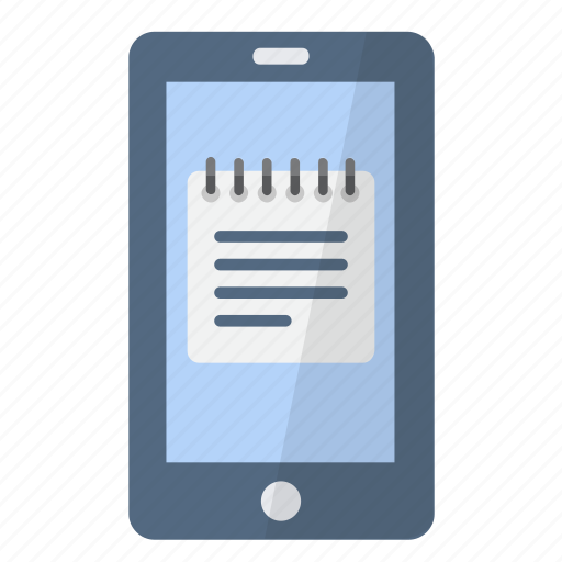 app, application, note, notepad, phone, smartphone, text icon