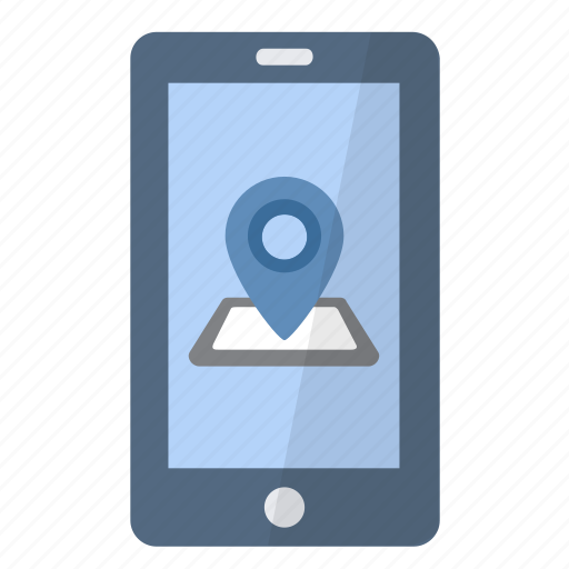 app, application, gps, location, phone, position, smartphone icon