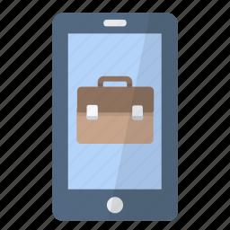 app, application, briefcase, phone, professionnal, smartphone icon