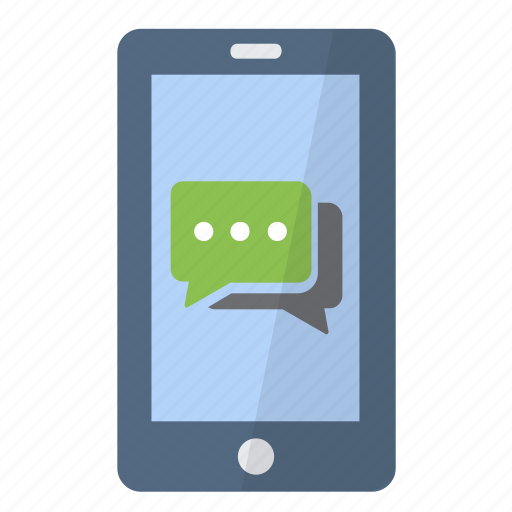 app, application, discuss, message, phone, smartphone, text icon