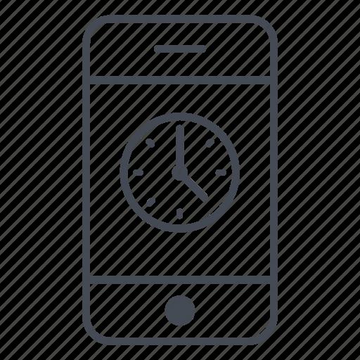 Smartphone, phone, alarm, clock, application, time, app icon
