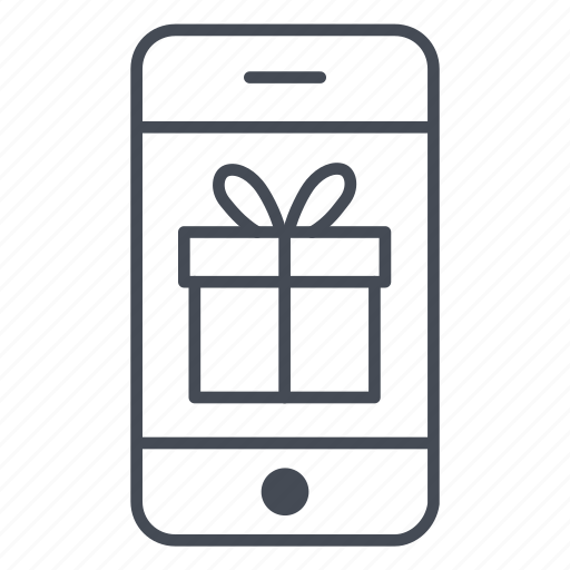 app, application, gift, phone, present, smartphone, surprise icon