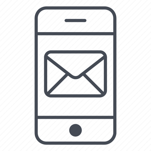 app, application, letter, mail, message, phone, smartphone icon