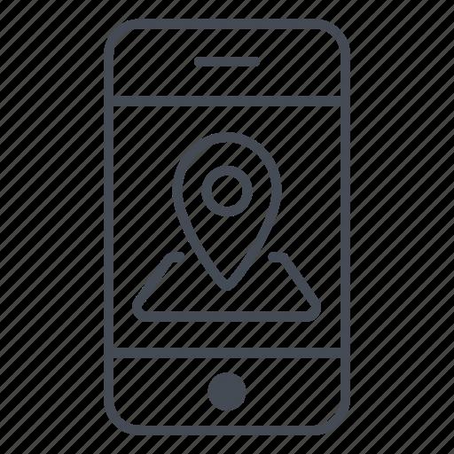 app, application, gps, location, phone, position, smartphone icon