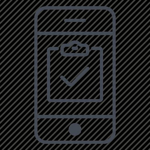 app, application, check, phone, smartphone, task, todo icon