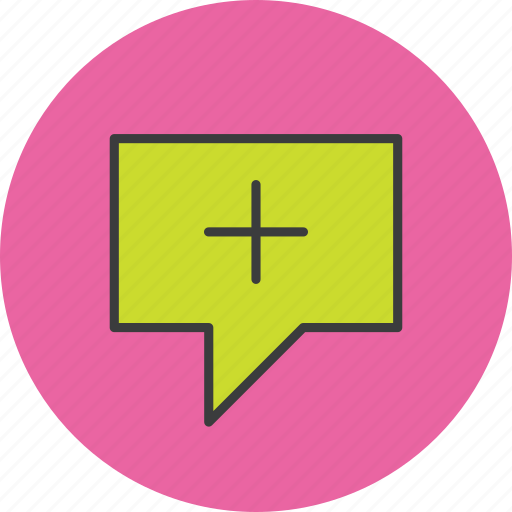 add, bubble, create, message, new, sms, write icon
