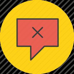 cancel, communication, delete, message, remove, sending, sms icon