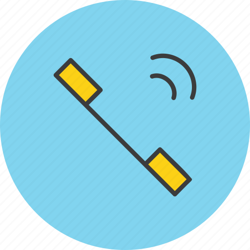 communication, network, phone, receiver, telephone, volume, wave icon