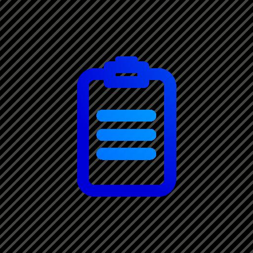 clipboard, color, data, database, paste, report icon
