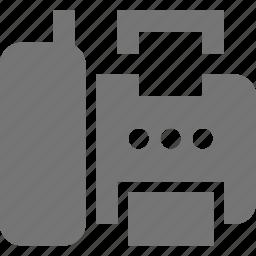 fax, fax machine icon