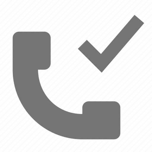check, phone, select, telephone icon
