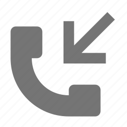 arrow, incoming call, phone, telephone icon