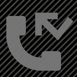arrow, call, phone icon