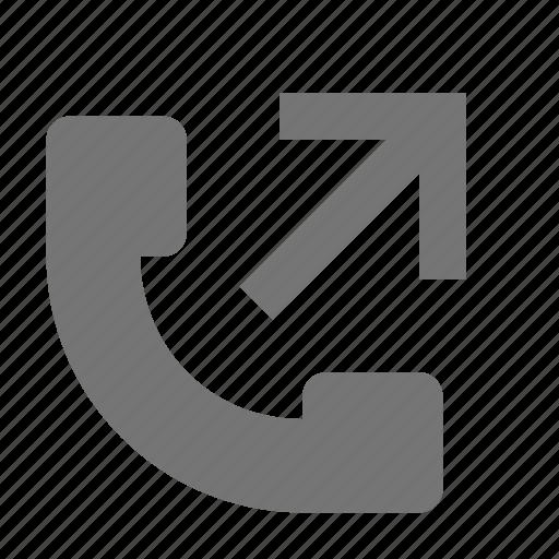 arrow, outgoing, outgoing call, phone icon