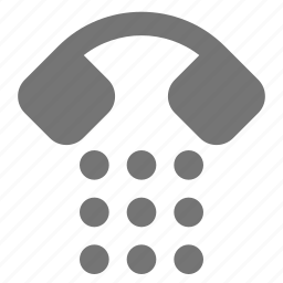 dial, keypad, telephone icon