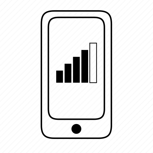 connectivity, high, network, phone, reception, signal, strong icon