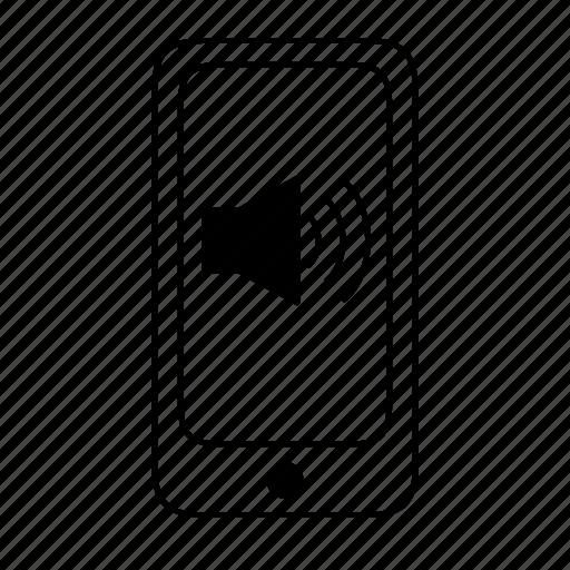 increase, mobile, phone, ringing, sound, unmute, volumn icon