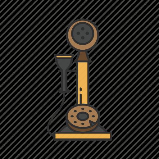 classic phone, old phone, telephone, vintage phone icon