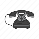 call, contact, old phone, telephone icon