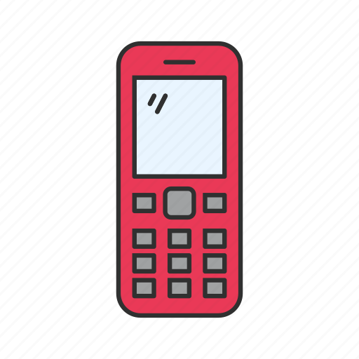 cellphone, keypad phone, nokia, old phone icon