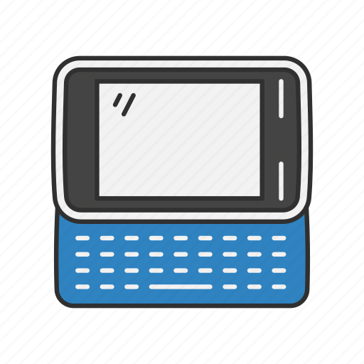 classic phone, keypad phone, qwerty, text icon