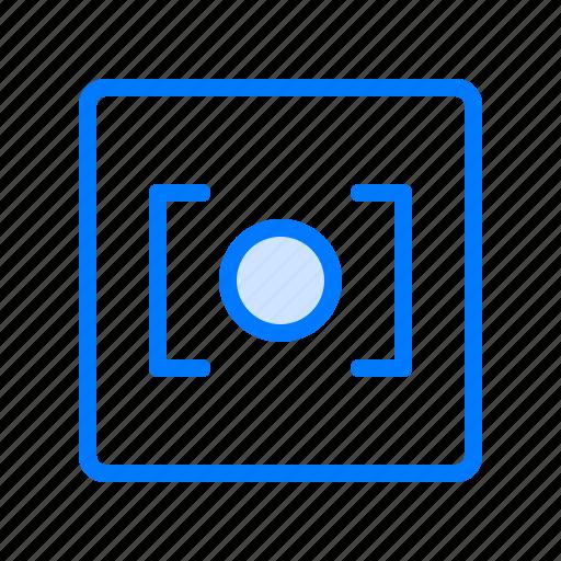 camera, center, center focus, focus, photo camera icon