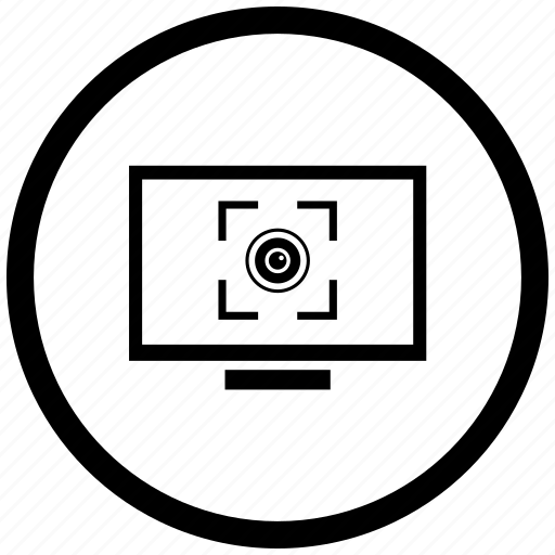 biometry, detect, eye, form, monitor icon