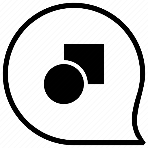 circle, figure, form, geometry, rectangle icon