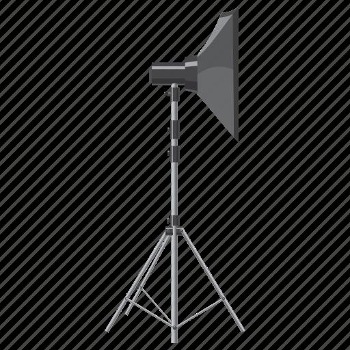 blog, cartoon, equipment, photo, professional, shooting, spotlight icon