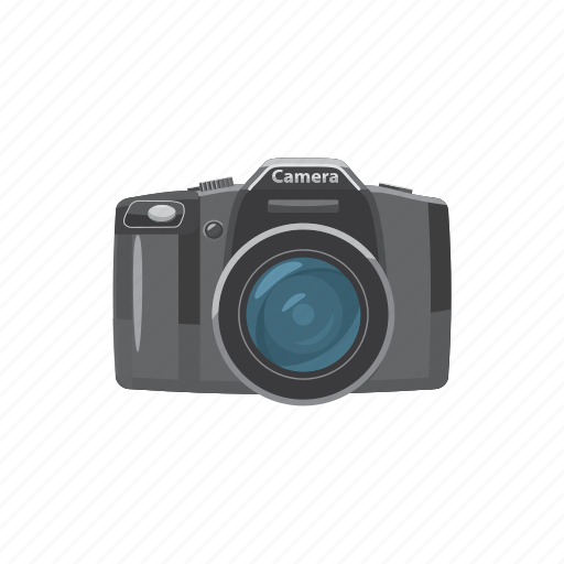 blog, camera, cartoon, equipment, lens, photo, picture icon