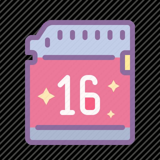 card, data, drive, files, flash, memory, stick icon