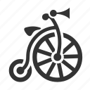 bicycle, old, retro, vintage icon