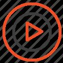 mp4, play, studio, video icon