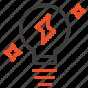 bulb, light, power